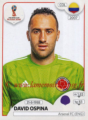 2018 - Panini FIFA World Cup Russia Stickers - N° 634 - David OSPINA (Colombie)