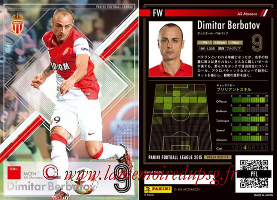 Panini Football League 2015 - PFL14 - N° 063 - Dimitar BERBATOV (AS Monaco) (Star +)