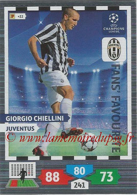 2013-14 - Adrenalyn XL champions League N° 303 - Giorgio CHIELLINI (Juventus) (Fans' Favourite)