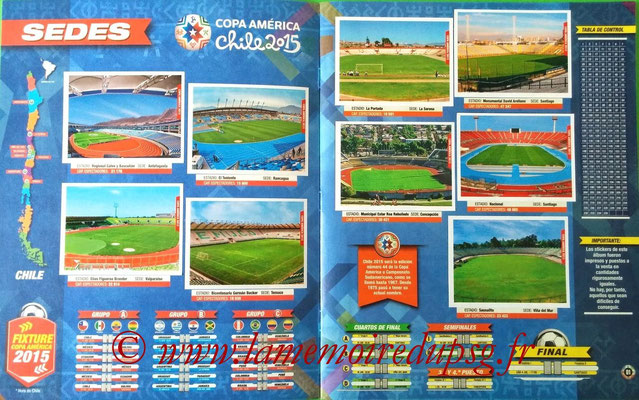 Navarette Copa America Chile 2015 Stickers - Pages 00 et 01 - Stades