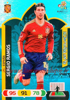 Panini Euro 2012 Cards Adrenalyn XL - N° 250 - Sergio RAMOS (Espagne) (Fans' Favourite)