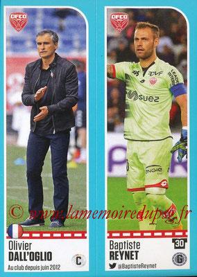 2016-17 - Panini Ligue 1 Stickers - N° 176 + 177 - Olivier DALL'OGLIO + Baptiste REYNET (Dijon)