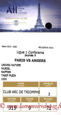 Tickets  PSG-Angers  2019-20