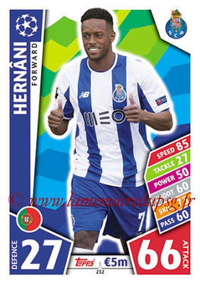 2017-18 - Topps UEFA Champions League Match Attax - N° 232 - HERNANI (FC Porto)