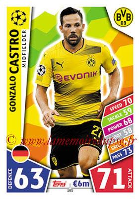 2017-18 - Topps UEFA Champions League Match Attax - N° 105 - Gonzalo CASTRO (Borussia Dortmund)