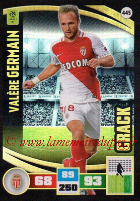 2016-17 - Panini Adrenalyn XL Ligue 1 - N° 445 - Valère GERMAIN (Marseille) (Crack)
