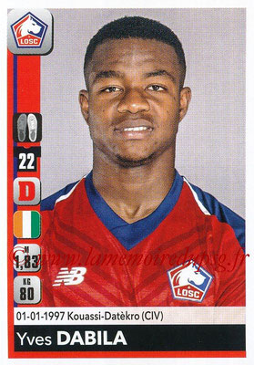 2018-19 - Panini Ligue 1 Stickers - N° 156 - Yves DABILA (Lille)