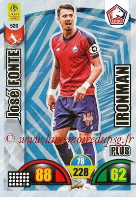 2018-19 - Panini Adrenalyn XL Ligue 1 - N° 526 - José FONTE (Lille) (Ironman Plus)