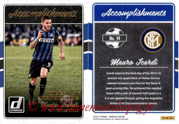 2016 - Panini Donruss Cards - N° A14 - Mauro ICARDI (FC Internazionale) (Accomplishments)