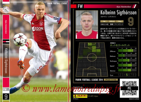 Panini Football League 2014 - PFL06 - N° 111 - Kolbeinn SIGHTORSSON (Ajax Amsterdam)