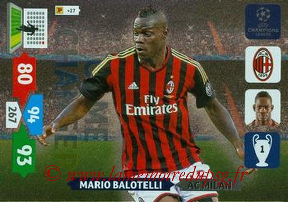 2013-14 - Adrenalyn XL champions League N° 345 - Mario BALOTELLI (AC Milan) (Game Changer)
