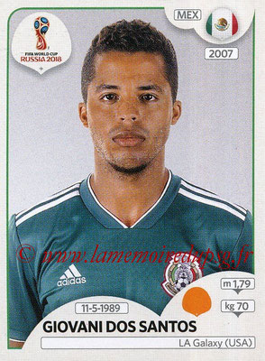 2018 - Panini FIFA World Cup Russia Stickers - N° 462 - Giovani DOS SANTOS (Mexique)