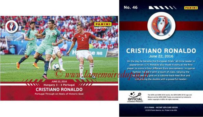 Panini Instant Euro 2016 - N° 046 - Cristiano RONALDO