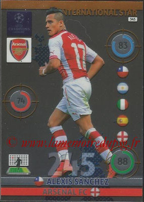 2014-15 - Adrenalyn XL champions League N° 343 - Alexis SANCHEZ (Arsenal FC) (International Star)