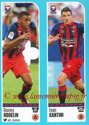 2016-17 - Panini Ligue 1 Stickers - N° 144 + 145 - Ronny RODELIN + Ivan SANTINI (Caen)