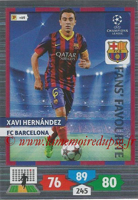 2013-14 - Adrenalyn XL champions League N° 293 - Xavi HERNANDEZ (FC Barcelona) (Fans' Favourite)