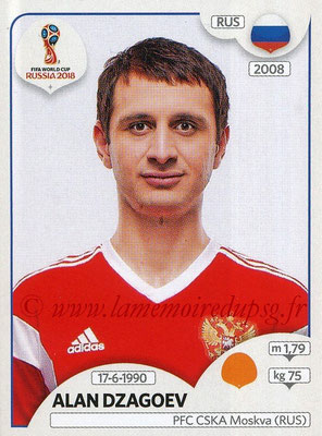 2018 - Panini FIFA World Cup Russia Stickers - N° 047 - Alan DZAGOEV (Russie)