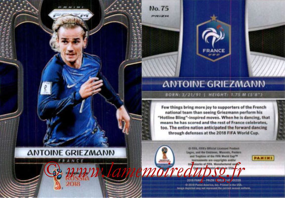 2018 - Panini Prizm FIFA World Cup Russia - N° 075 - Antoine GRIEZMANN (France)