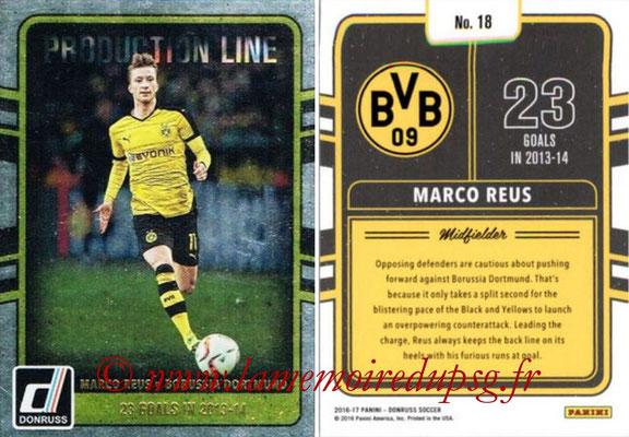 2016 - Panini Donruss Cards - N° PL18 - Marco REUS (Borussia Dortmund) (Production Line)