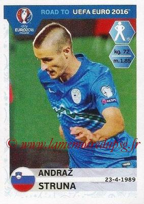 Panini Road to Euro 2016 Stickers - N° 293 - Andreaz STRUNA (Slovénie)
