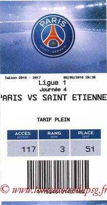Tickets  PSG-Saint Etienne  2016-17