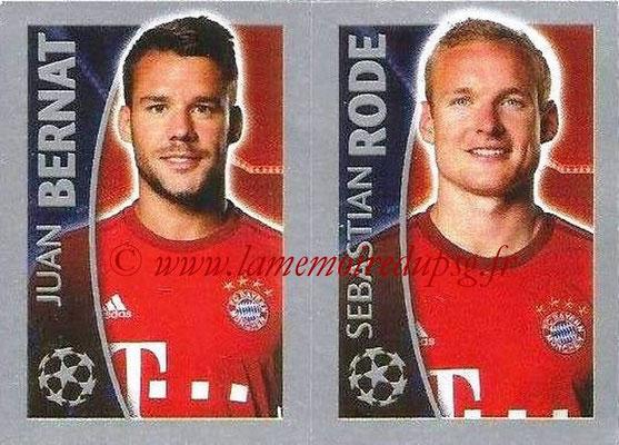 2015-16 - Topps UEFA Champions League Stickers - N° 390 - Juan BERNAT + Sebastian RODE (FC Bayern Munich)