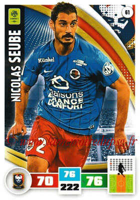 2016-17 - Panini Adrenalyn XL Ligue 1 - N° 061 - Nicolas SEUBE (Caen)
