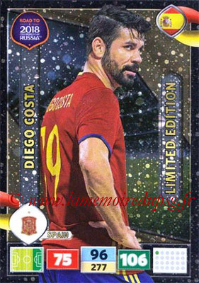 2018 - Panini Road to FIFA World Cup Russia Adrenalyn XL - N° LE-DC - Diego COSTA (Espagne) (Limited Edition)