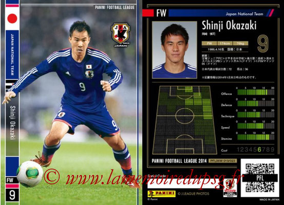 Panini Football League 2014 - PFL06W - N° 019 - Shinji OKAZAKI (Japon)