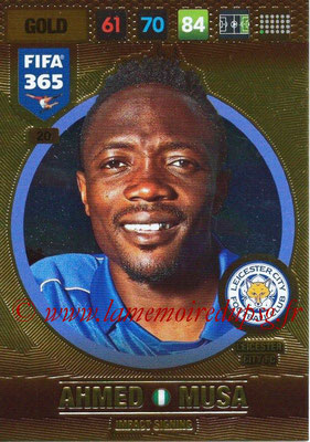 2016-17 - Panini Adrenalyn XL FIFA 365 - N° 020 - Ahmed MUSA (Leicester City FC) (Impact Signing)