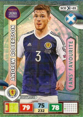 2018 - Panini Road to FIFA World Cup Russia Adrenalyn XL - N° SCO05 - Andrew ROBERTSON (Ecosse) (Fans Favourite) (UK Version)