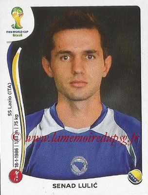 2014 - Panini FIFA World Cup Brazil Stickers - N° 439 - Senad LULIC (Bosnie Herzegovine)