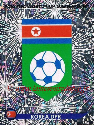 2010 - Panini FIFA World Cup South Africa Stickers - N° 506 - Logo Corée du Nord