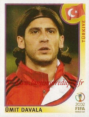 2002 - Panini FIFA World Cup Stickers - N° 195 - Umit DAVALA (Turquie)