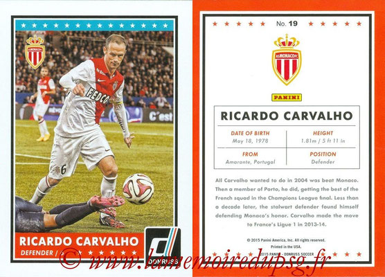 2015 - Panini Donruss Soccer - N° 019 - Ricardo CARVALHO (AS Monaco)