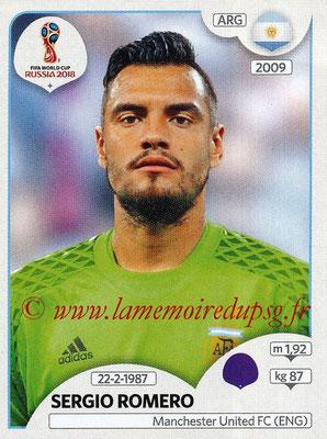 2018 - Panini FIFA World Cup Russia Stickers - N° 274 - Sergio ROMERO (Argentine)