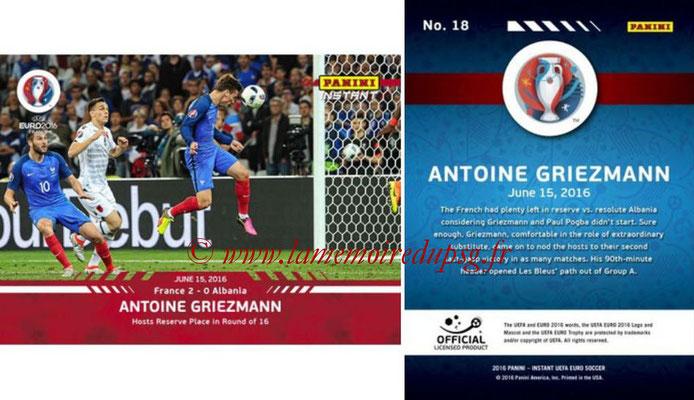 Panini Instant Euro 2016 - N° 018 - Antoine GRIEZMANN