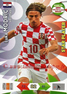 2014 - Panini Road to FIFA World Cup Brazil Adrenalyn XL - N° 105 - Luka MODRIC (Croatie) (Star Player)