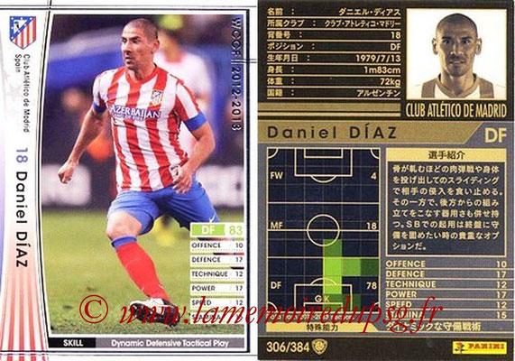 2012-13 - WCCF - N° 306 - Daniel DIAZ (Atletico  Madrid)