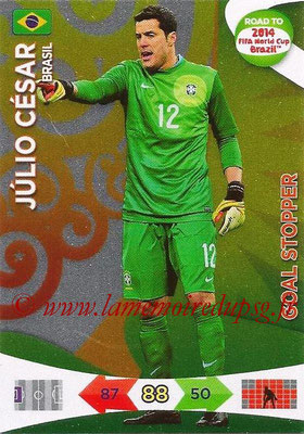 2014 - Panini Road to FIFA World Cup Brazil Adrenalyn XL - N° 207 - Julio CESAR (Brésil) (Goal Stopper)