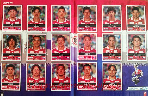 Panini Copa América Argentina 2011 - Pages 20 et 21 - Paraguay