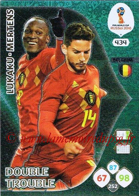 2018 - Panini FIFA World Cup Russia Adrenalyn XL - N° 434 - Romelu LUKAKU + Dries MERTENS (Belgique) (Double Trouble)