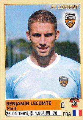 2014-15 - Panini Ligue 1 Stickers - N° 173 - Benjamin LECOMTE (FC Lorient)