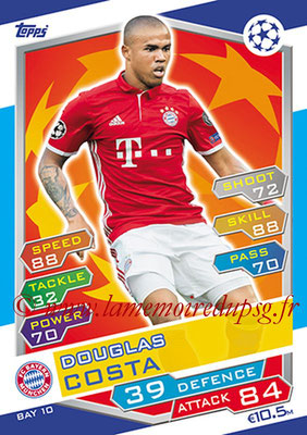 2016-17 - Topps UEFA Champions League Match Attax - N° BAY10 - Douglas COSTA (FC Bayern Munich)