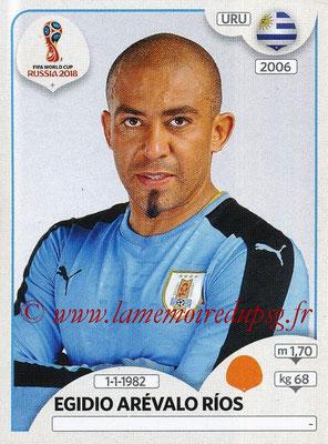 2018 - Panini FIFA World Cup Russia Stickers - N° 102 - Egidio AREVALO RIOS (Uruguay)