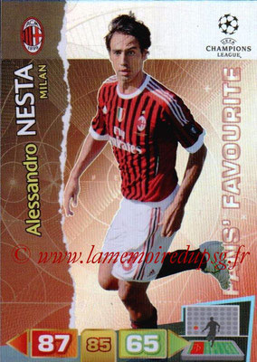 2011-12 - Panini Champions League Cards - N° 313 - Alessandro NESTA (Milan AC) (Fans' Favourite)