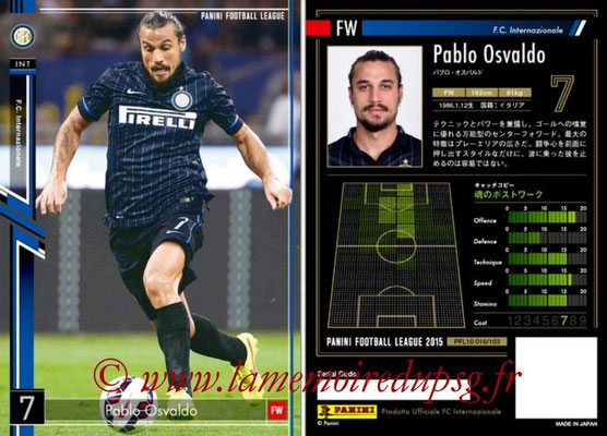 Panini Football League 2015 - PFL10 - N° 016 - Pablo OSVALDO (Inter)
