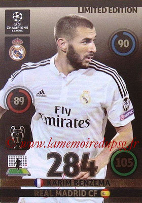 2014-15 - Adrenalyn XL champions League N° LE-KB - Karim BENZEMA (Real Madrid) (Limited Edition)