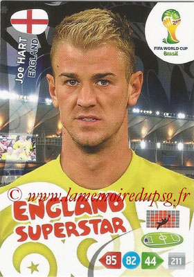 2014 - Panini FIFA World Cup Brazil Adrenalyn XL - N° 128 - Joe HART (Angleterre)