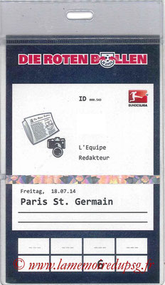 Badge Presse  Leipzig-PSG  2014-15